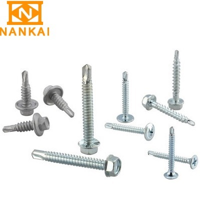Zinc plated multiple head galvanized self drilling screw